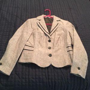 Grey Madison blazer with black trim
